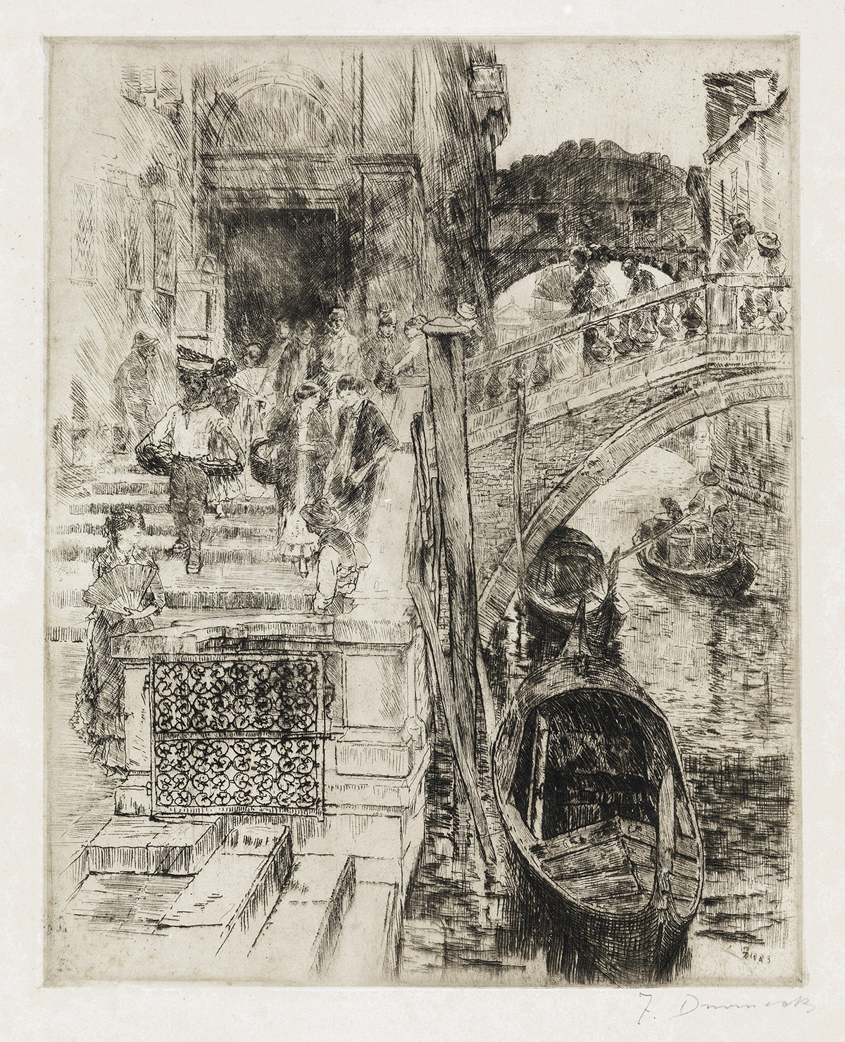 FRANK-DUVENECK-The-Bridge-of-Sighs-Venice-(First-Plate)
