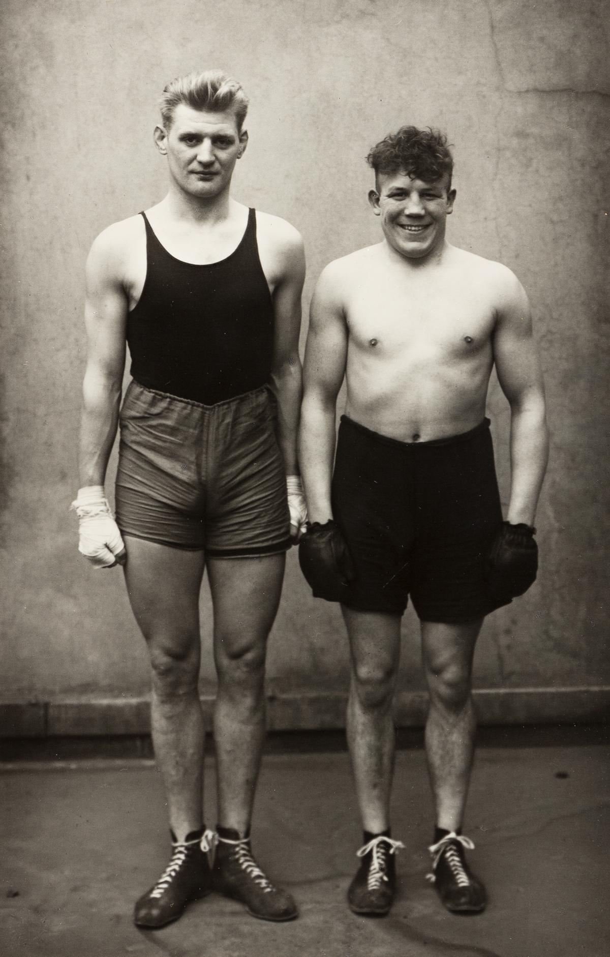 AUGUST SANDER (1876-1964)/GERD SANDER (1940) Boxers, Paul Röderstein and Hein Hesse, Köln.