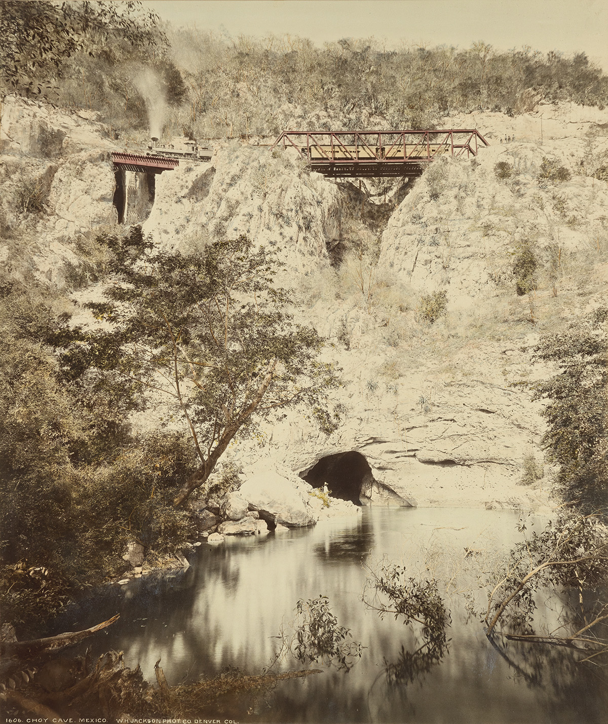 WILLIAM-HENRY-JACKSON-(1843-1942)-Choy-Cave-Mexico-(red-brid
