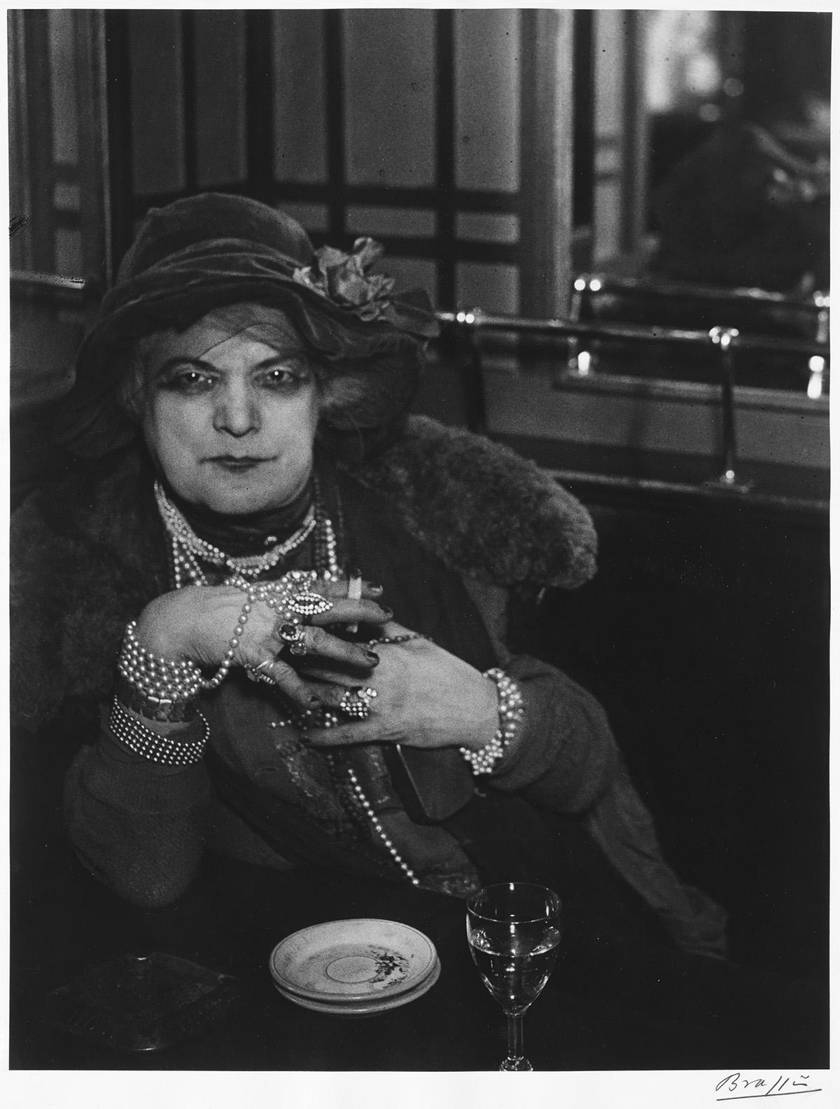 BRASSAÏ (1899-1984) Madame Bijou at the Bar de la Lune, Paris.