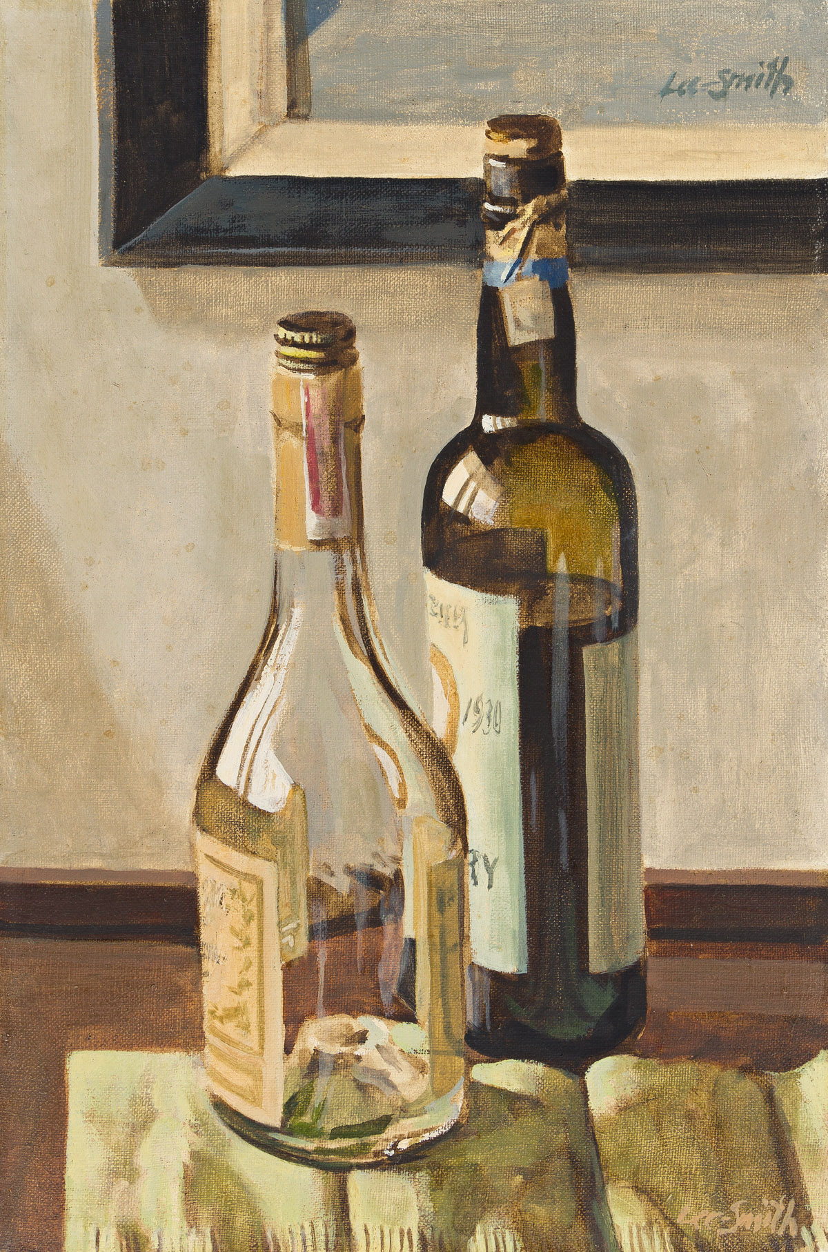 HUGHIE LEE-SMITH (1915 - 1999) Untitled (Still Life with Two Wine Bottles).