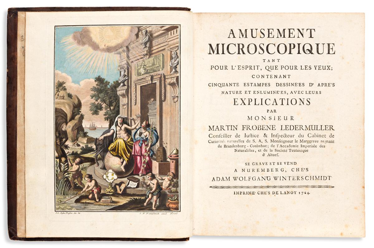 Ledermüller, Martin Frobenius (1719-1769) Amusement Microscopique tant pour lEsprit, que pour les Yeux.
