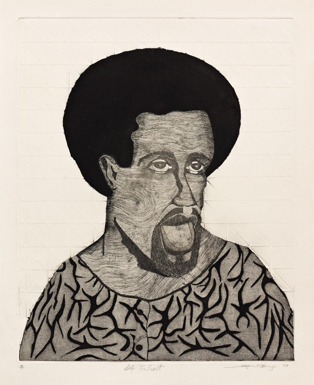 CASPER BANJO (1937 - 2008) Self Portrait.