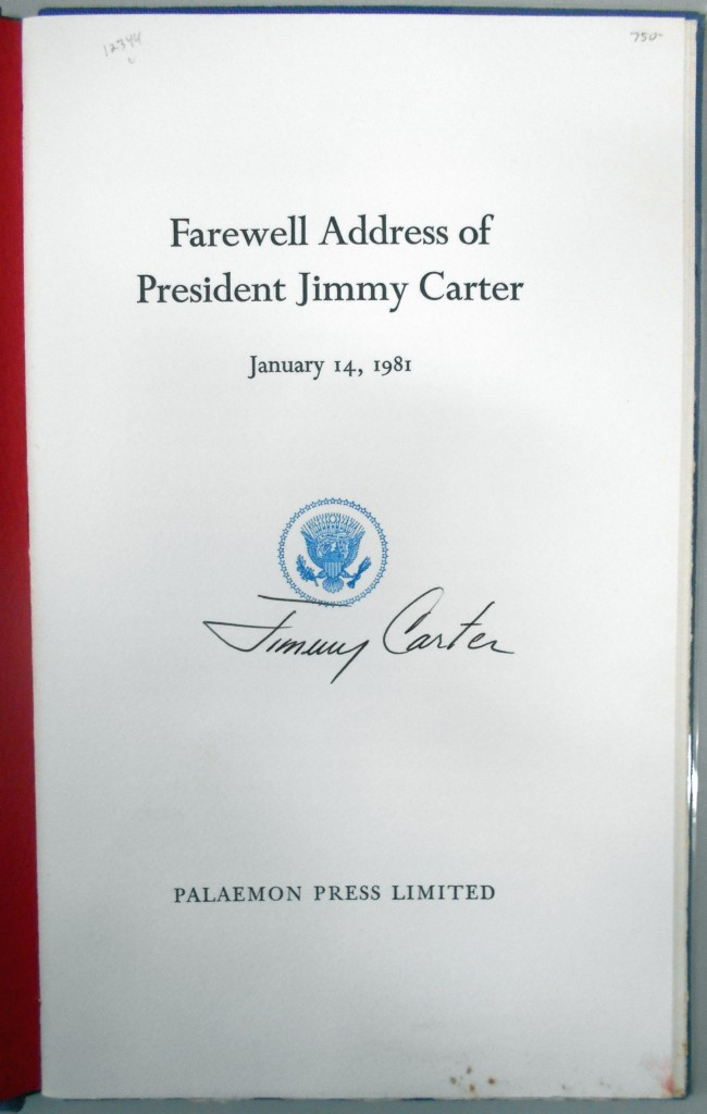 CARTER-JIMMY-Farewell-Address-of-President-Jimmy-Carter-Sign