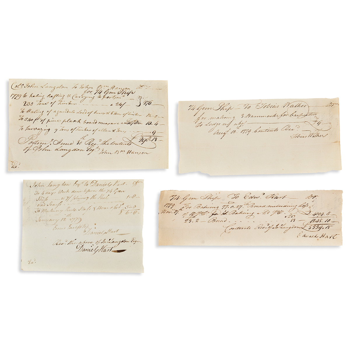 (AMERICAN-REVOLUTION--1779)-Receipts-from-the-construction-o