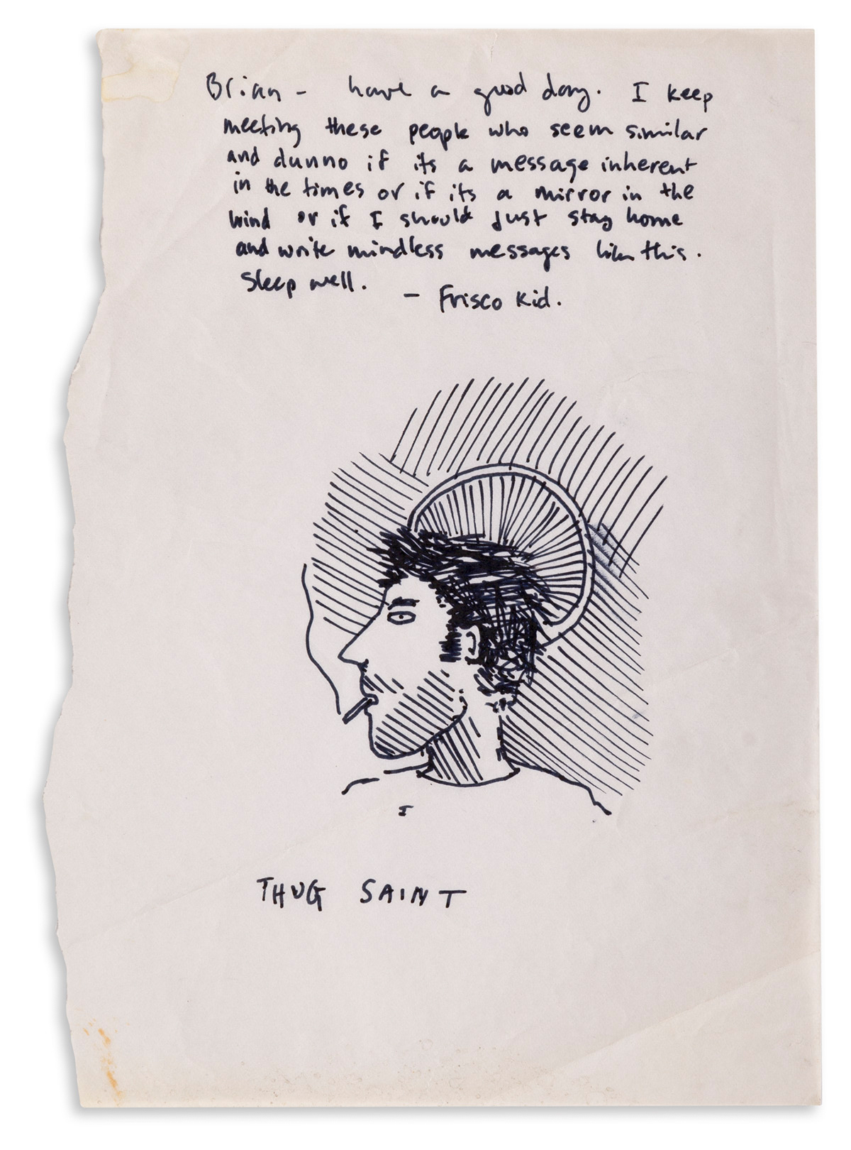 DAVID WOJNAROWICZ (1954-1992) Small archive of song lyrics from his band 3 Teens Kill 4 and other projects.
