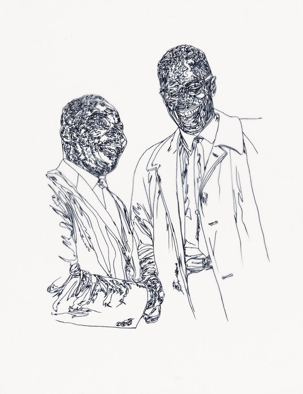 BRETT COOK-DIZNEY (1968 - ) King and Shabazz.