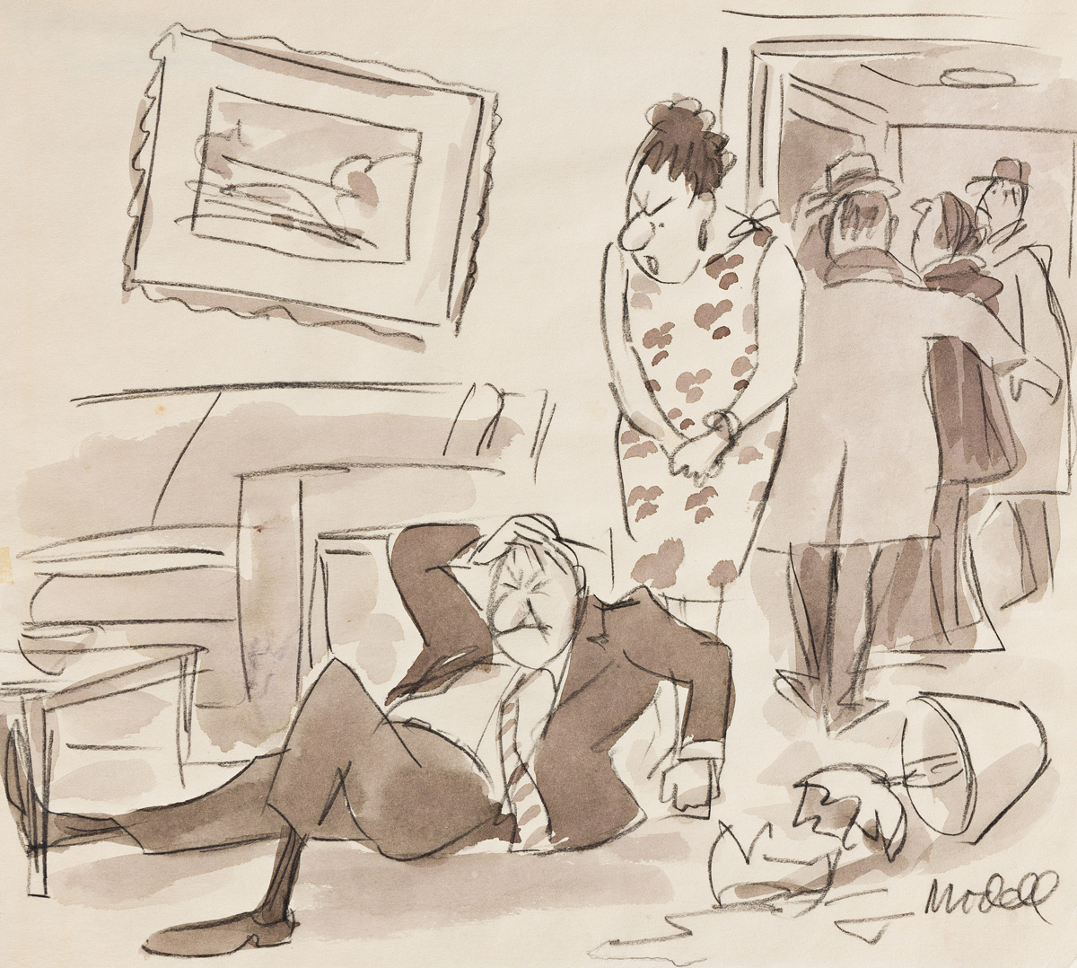 FRANK MODELL (1917-2016) Now will you stop stating things without fear of contradiction? [CARTOONS / NEW YORKER]