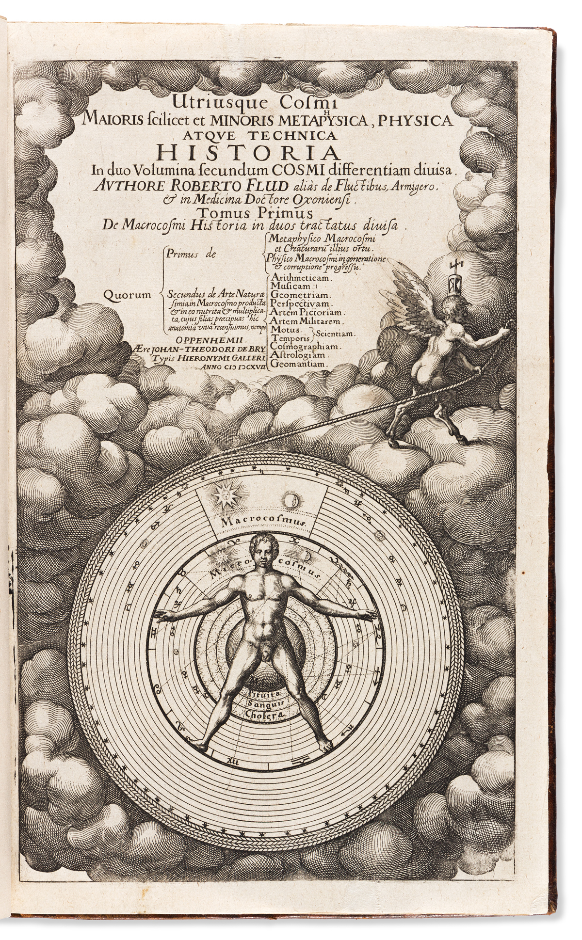 Fludd, Robert (1574-1637) Utriusque Cosmi Maioris Scilicet et Minoris Metaphysica. [bound with] Clavis Philosophiae et Alchymiae Fludda