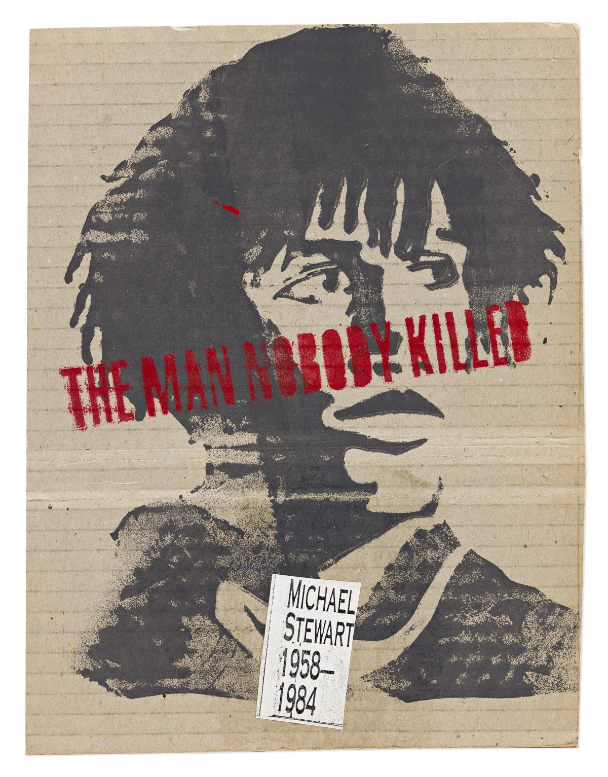 DAVID HAMMONS (1943 -   ) The Man Nobody Killed.