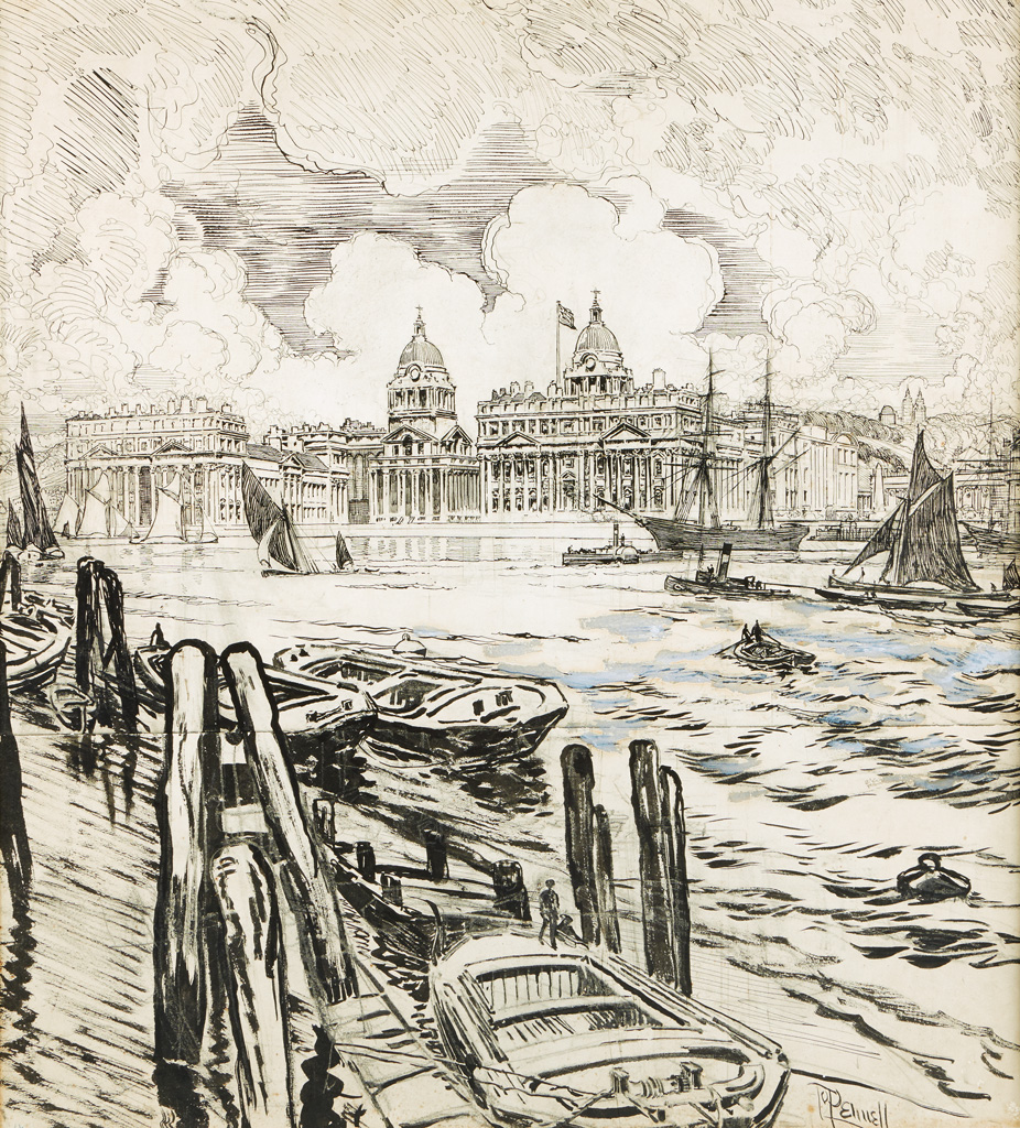 JOSEPH-PENNELL-View-of-the-Old-Royal-Naval-College-Greenwich