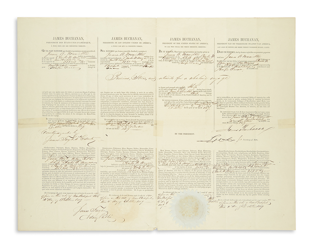 BUCHANAN-JAMES-Partly-printed-Document-Signed-as-President-4