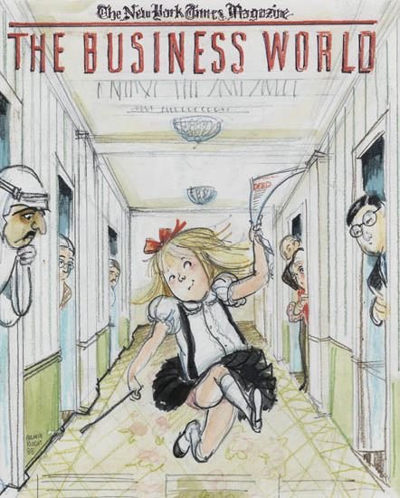 HILARY KNIGHT. Illustration for Eloise: The Business World.