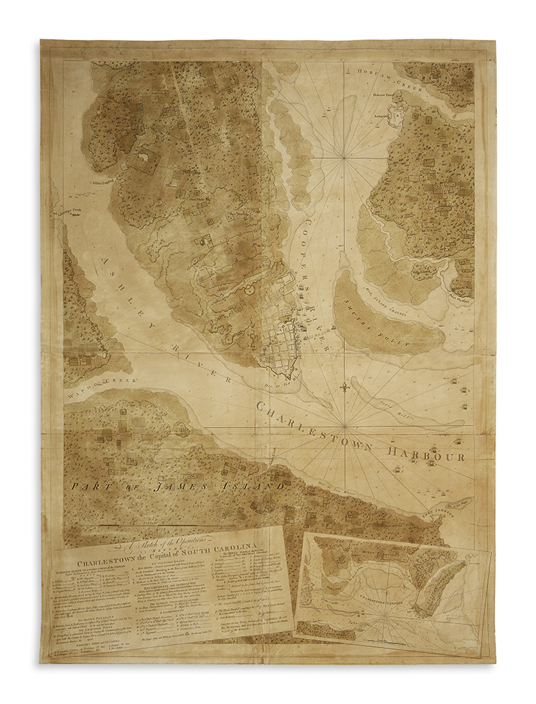 (CHARLESTON.) Des Barres, Joseph Frederick Wallet. A Sketch of the Operations Before Charlestown the Capital of South Carolina.