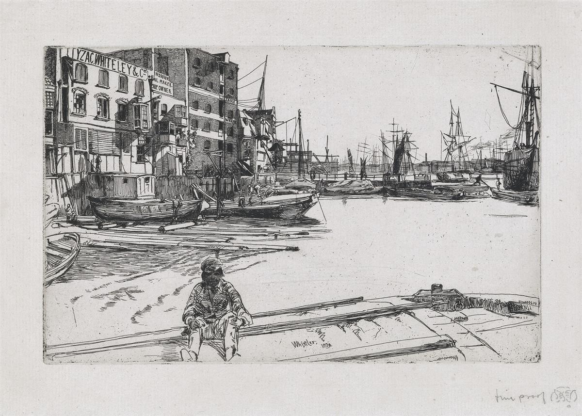 JAMES A. M. WHISTLER Eagle Wharf.
