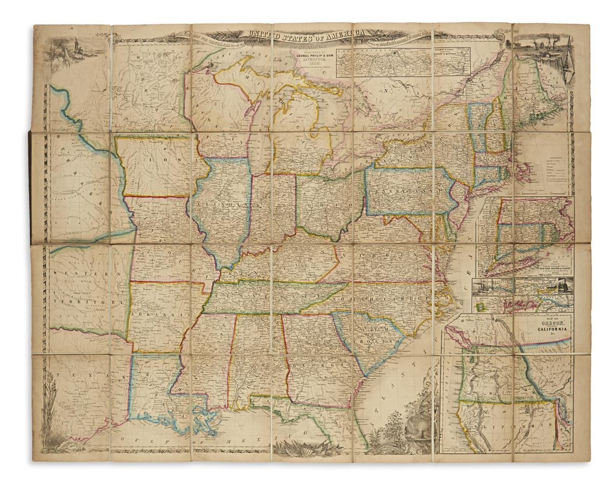 SMITH, J. CALVIN. A New Map for Travellers Through the United States of America.