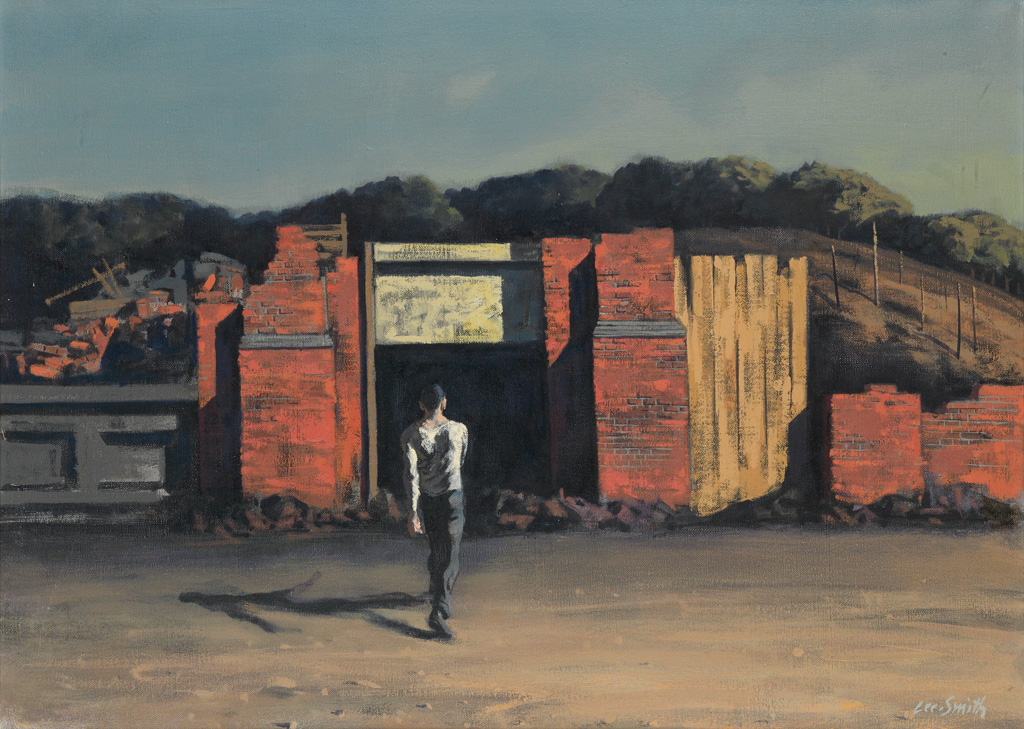 HUGHIE LEE-SMITH (1915 - 1999) Untitled (Young Man in a Slum).