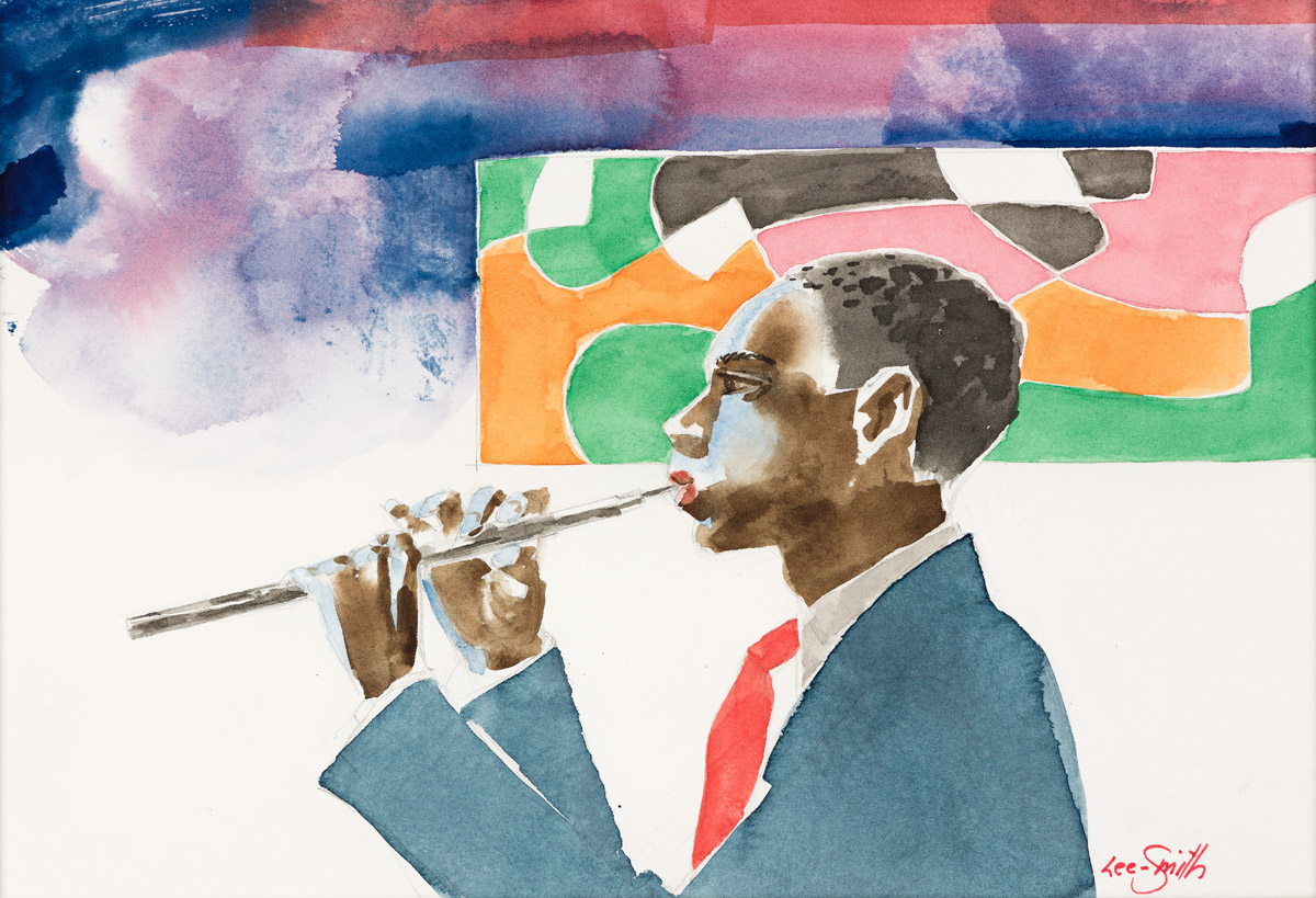HUGHIE LEE-SMITH (1915 - 1999) Untitled (Man Playing the Flute).