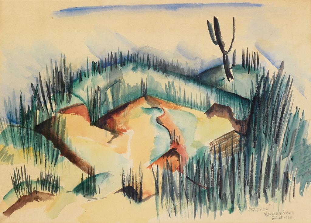 NORMAN LEWIS (1909 - 1979) Erosion.