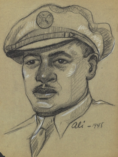 MASOOD ALI WARREN (1907 - 1995) Three military drawings.