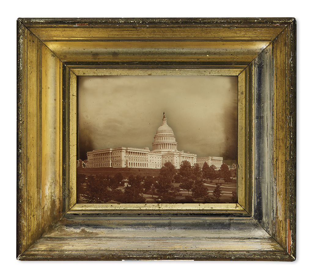 (DISTRICT OF COLUMBIA.) Craig, Annie F.; inventor. Unusual patent shadowbox photograph of the United States Capitol.