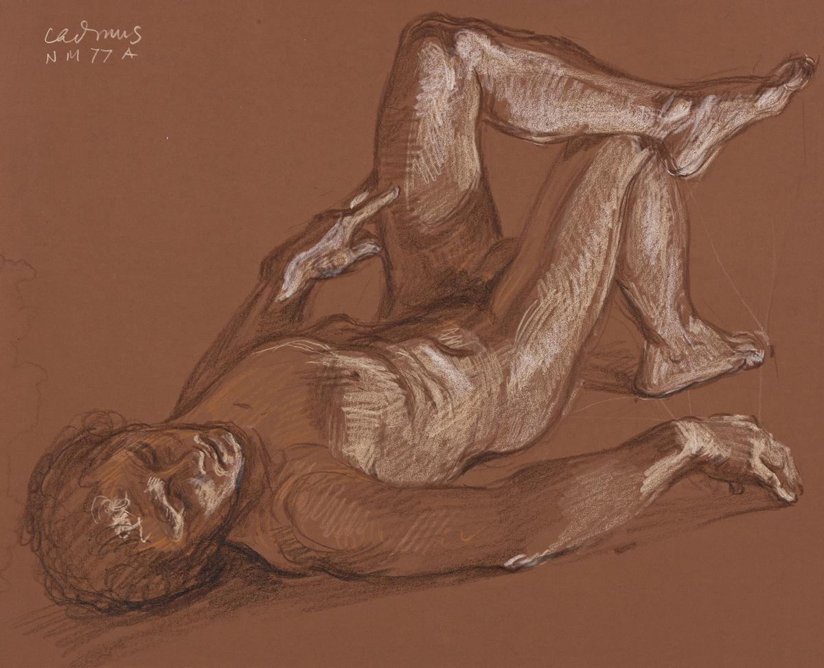 PAUL CADMUS Reclining Male Nude (NM 77A).