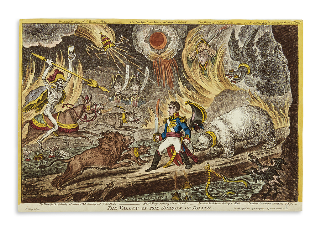 GILLRAY, JAMES. The Valley of the Shadow of Death.