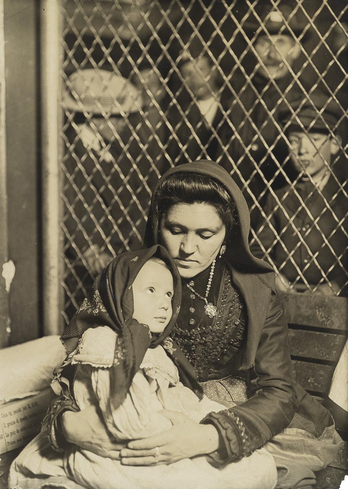LEWIS W. HINE (1874-1940) Ellis Island, Italian Madonna.