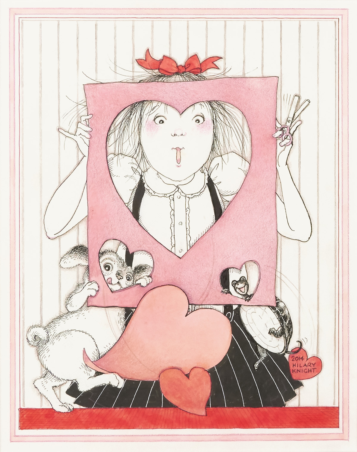 HILARY-KNIGHT-Eloise-with-Valentine-[CHILDRENS--HOLIDAYS]