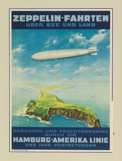 (ZEPPELIN.) Zeppelin-Fahrten über See und Land.