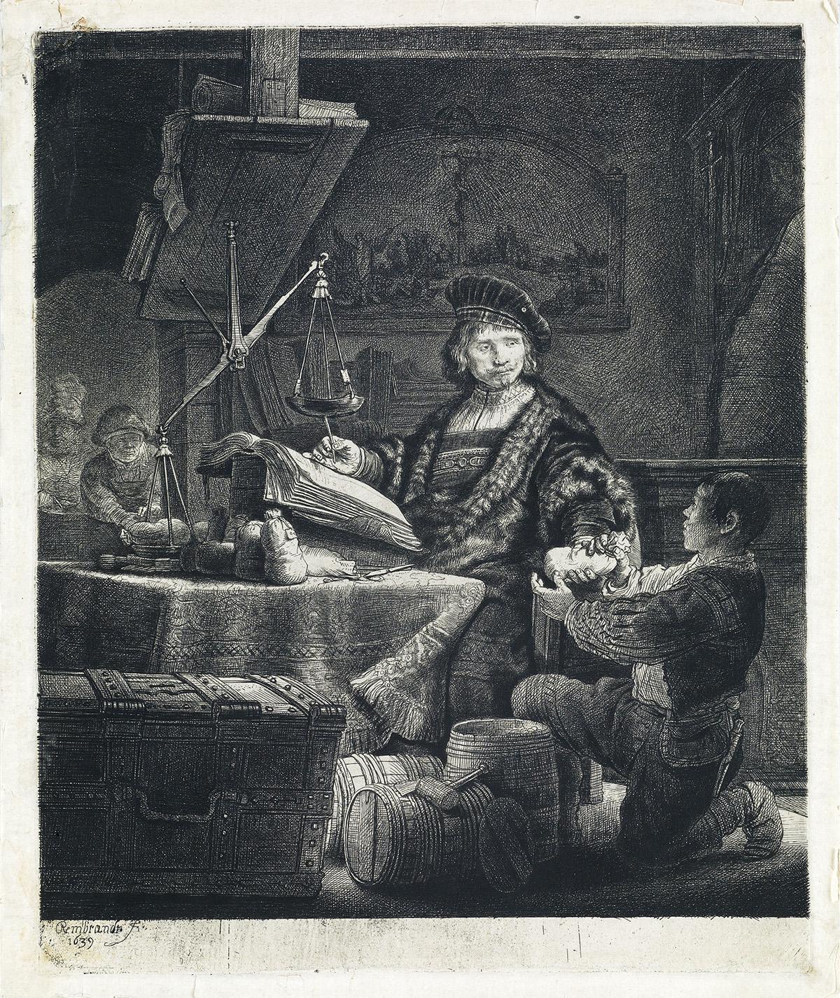 REMBRANDT-VAN-RIJN-Jan-Uytenbogaert-The-Goldweigher