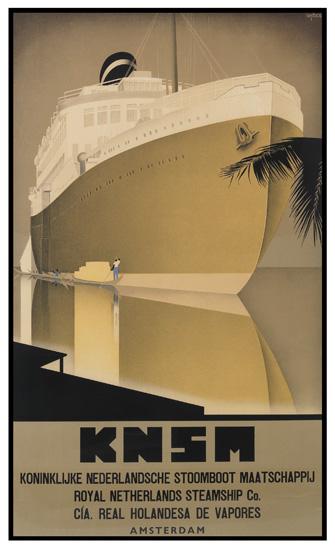 WILLEM FREDERICK TEN BROEK (1905-1993). KNSM. 1937. 37x22 inches, 94x56 cm.