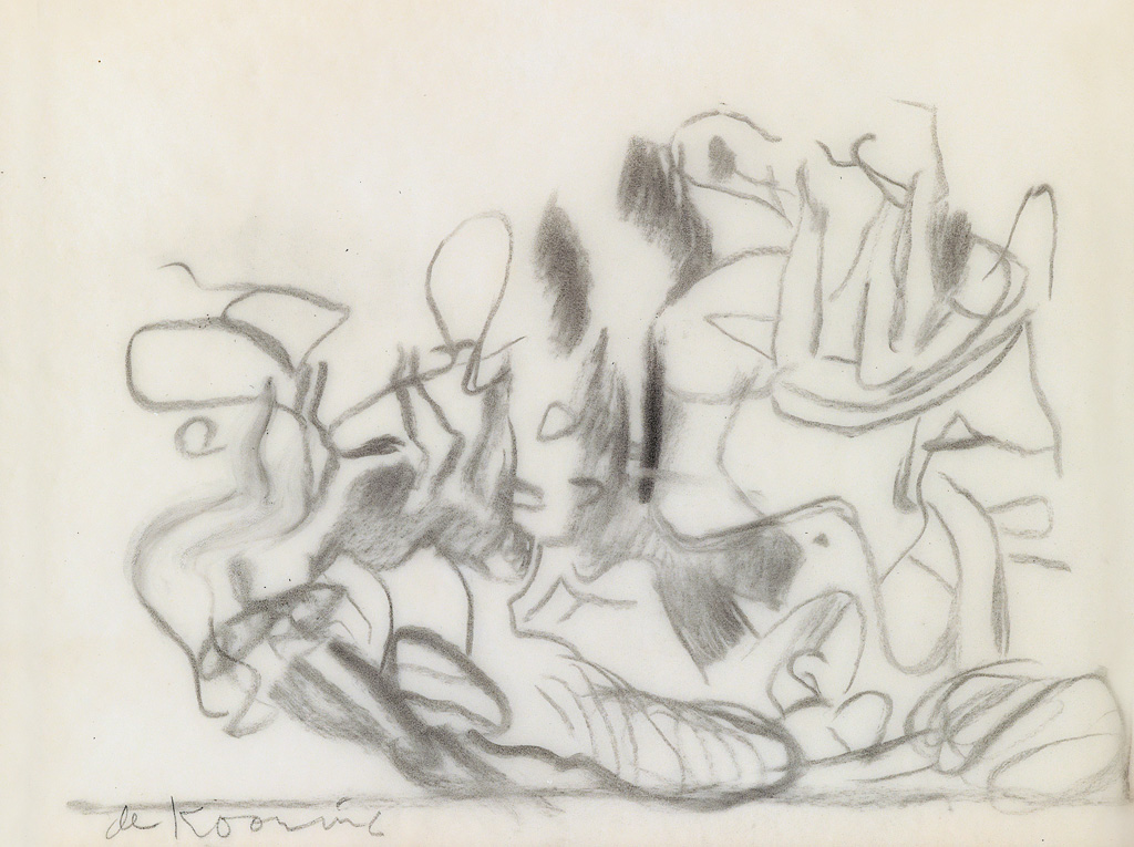WILLEM-DE-KOONING-Untitled-(Seated-and-Reclining-Women)