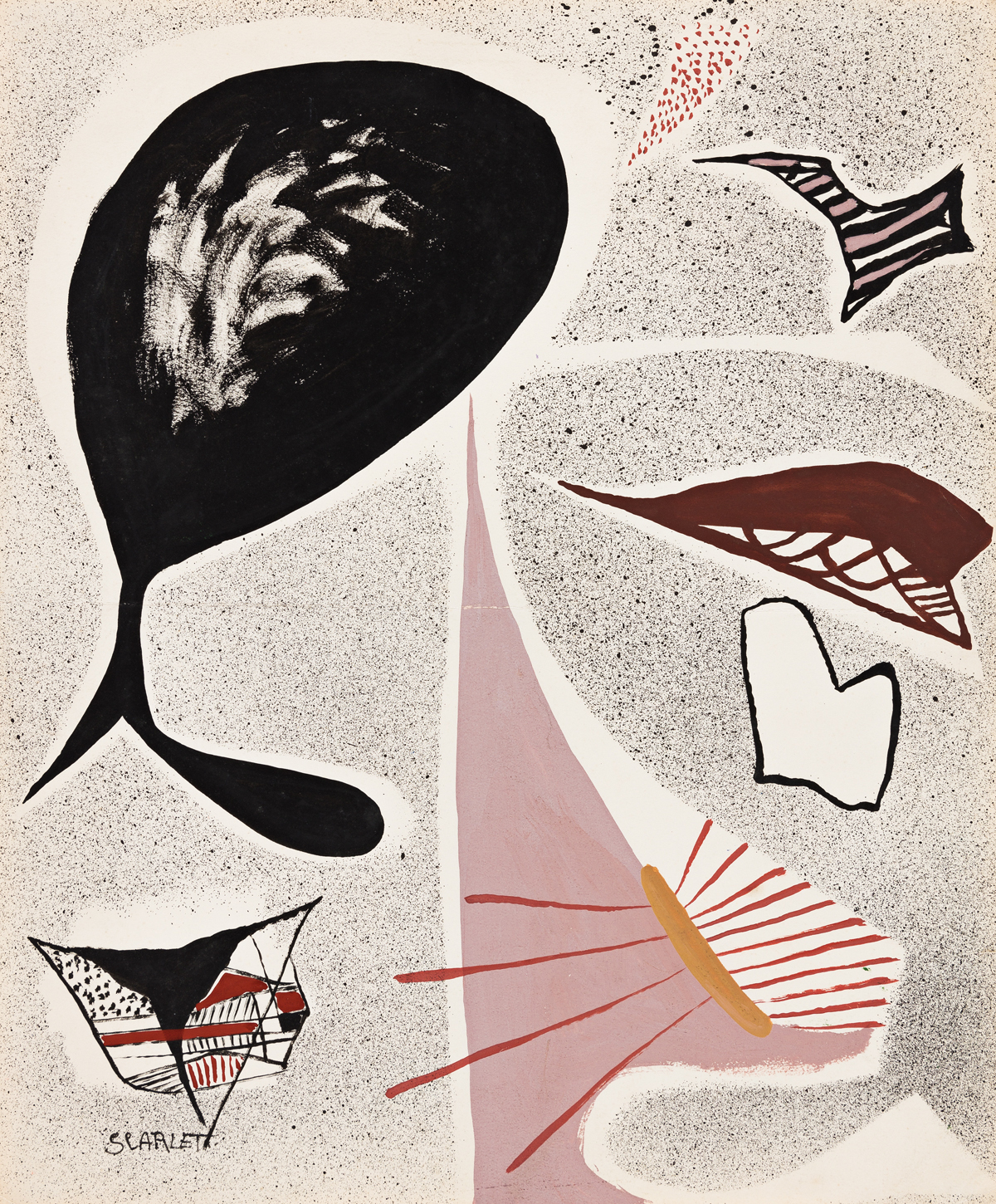 ROLPH SCARLETT (1889 - 1984, CANADIAN/AMERICAN) Untitled, (Biomorphic Abstraction).