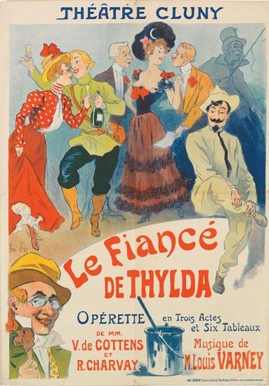 RENÉ-PÉAN-(1875-1940)-LE-FIANCÉ-DE-THYLDA-1900-42x23-inches-