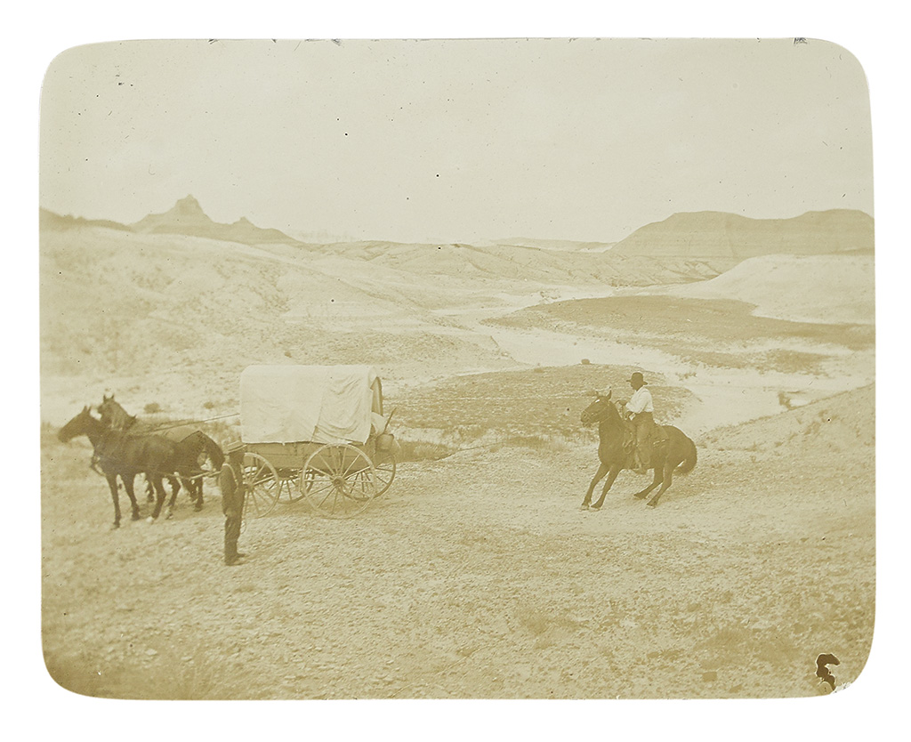 (SOUTH DAKOTA.) Bolster, William W. Diary and photo album of trip to the Badlands and Black Hills.
