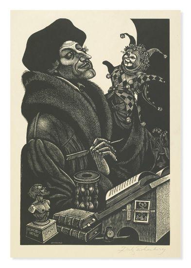 (AQUARIUS PRESS.) Erasmus, Desiderius. In Praise of Folly (Encomium moriae).