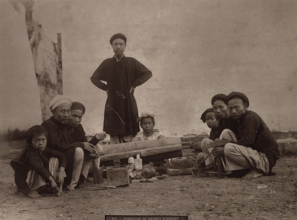HOCQUARD, CHARLES EDOUARD (1855-1911) Group of 17 mounted photographs entitled Le Tonkin [Vietnam], with 9 prints mounted singly and