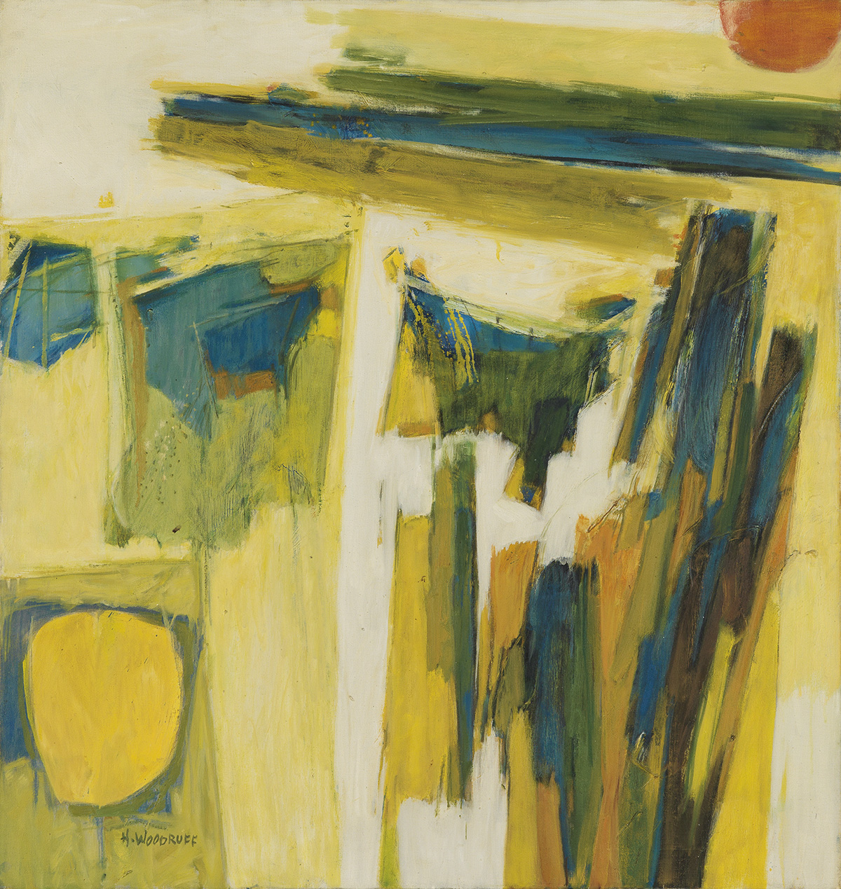 HALE-WOODRUFF-(1900---1980)-Untitled-(Abstract-Composition)