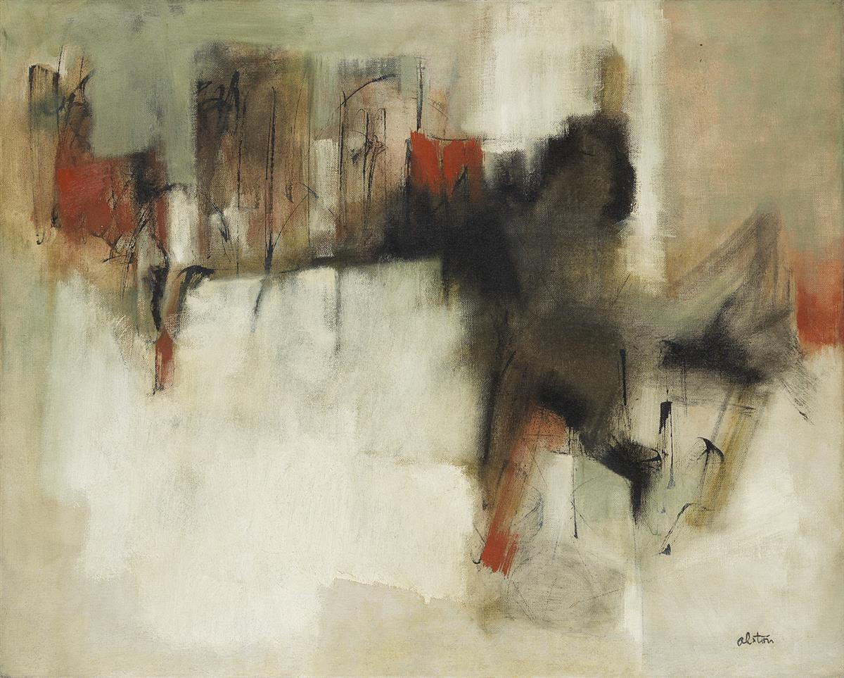 CHARLES ALSTON (1907 - 1977) Untitled (Abstract Composition).