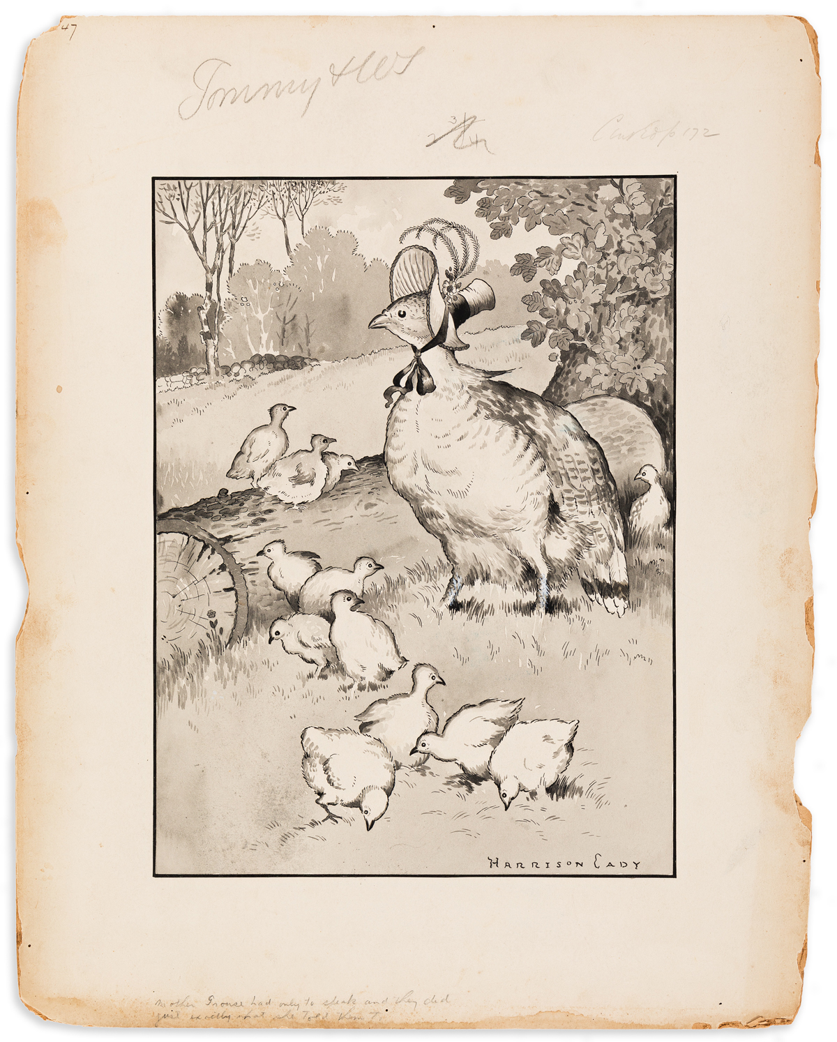 HARRISON CADY (1877-1970) Mother Grouse Knew there were dangers on Every side. [CHILDRENS]