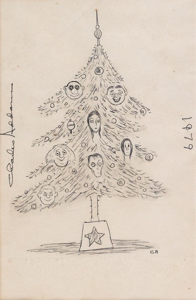 CHARLES ADDAMS. Addams Family Christmas Tree.