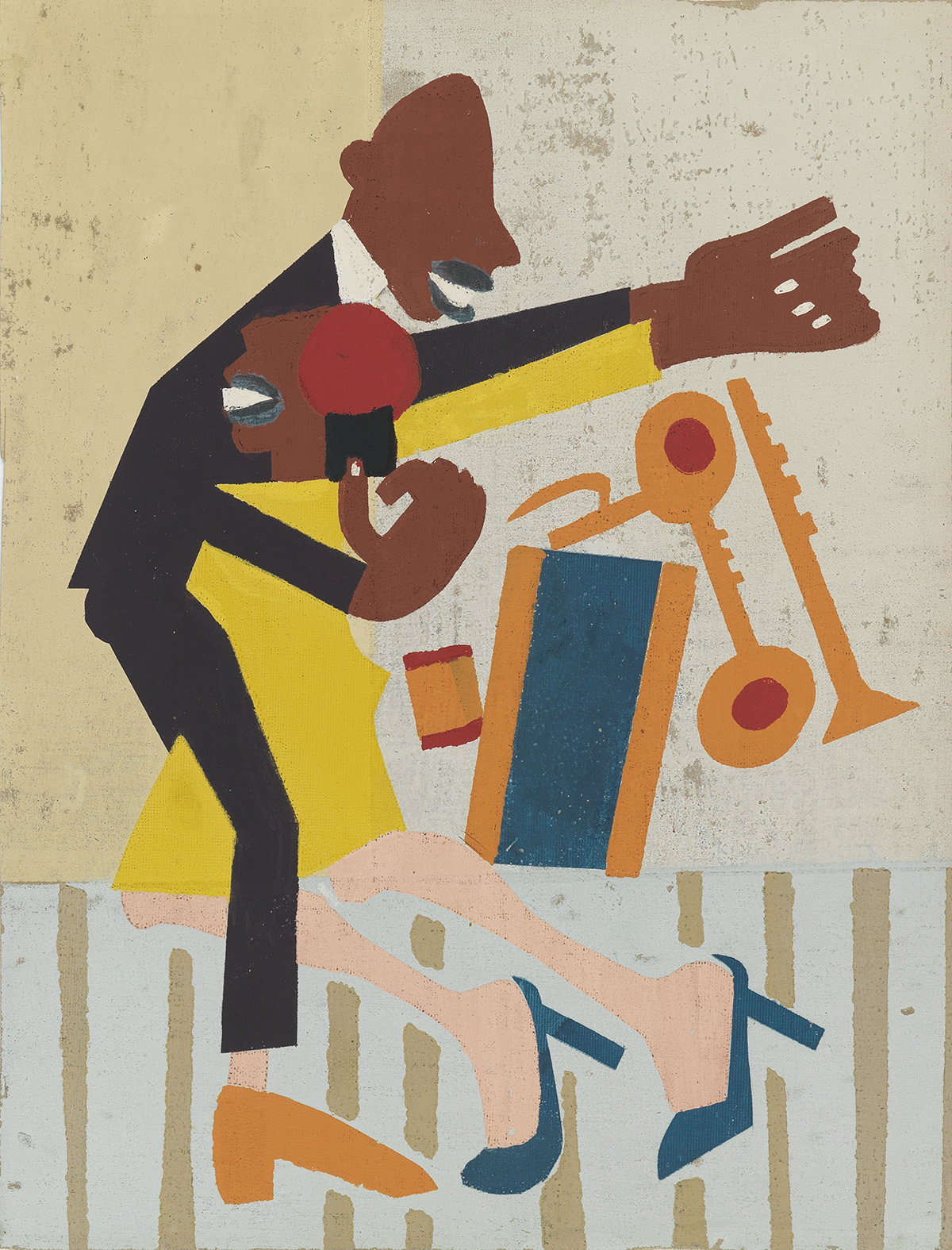 WILLIAM-H-JOHNSON-(1901--1970)-Jitterbugs-II