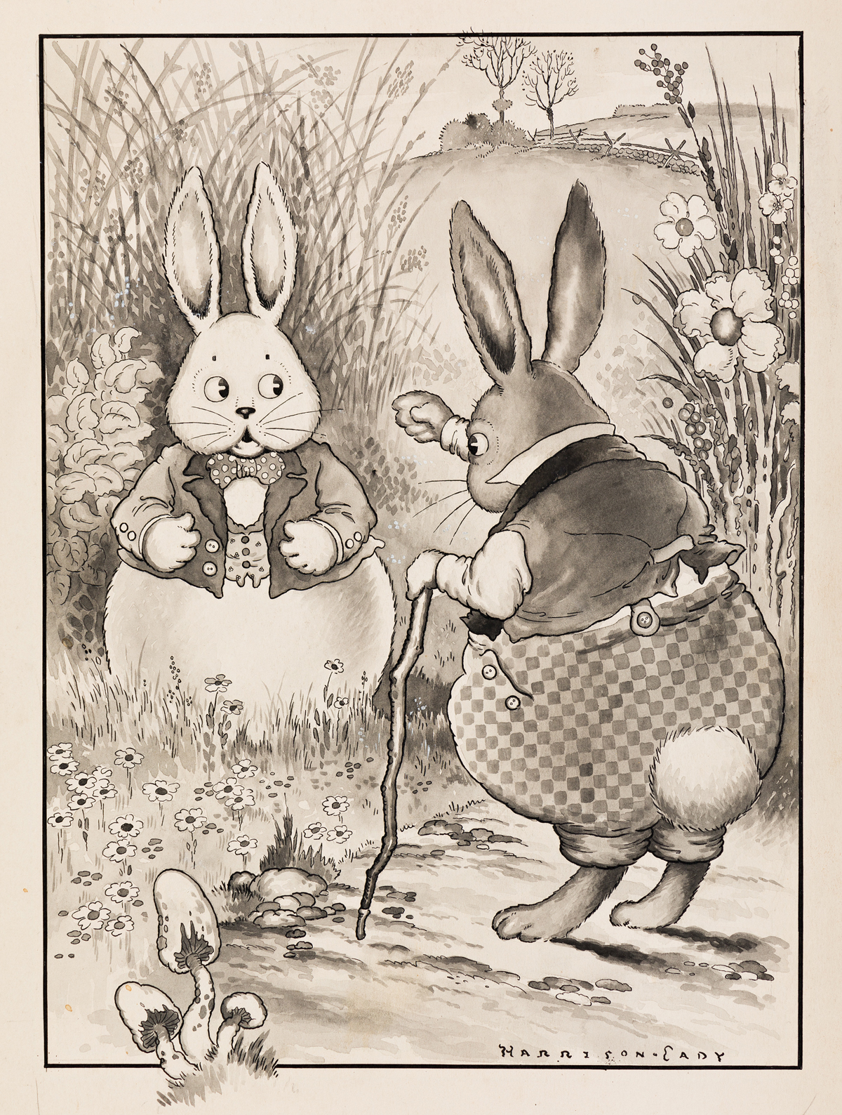 HARRISON CADY (1877-1970) Peter Rabbit was very indignant. [CHILDRENS / RABBITS]