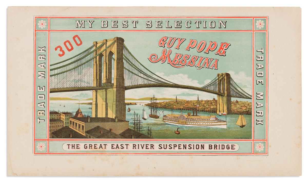 (NEW YORK CITY.) The Great East River Suspension Bridge.