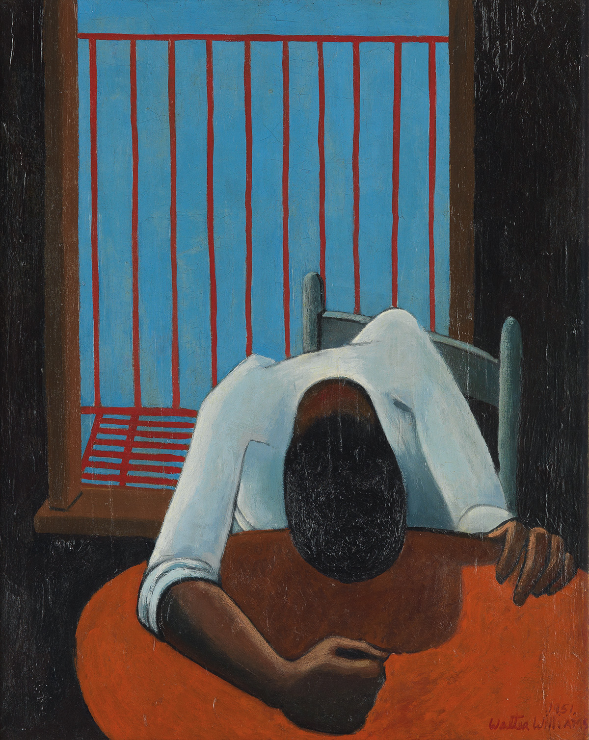 WALTER WILLIAMS (1920 - 1988) Untitled (Seated Man with Bowed Head).