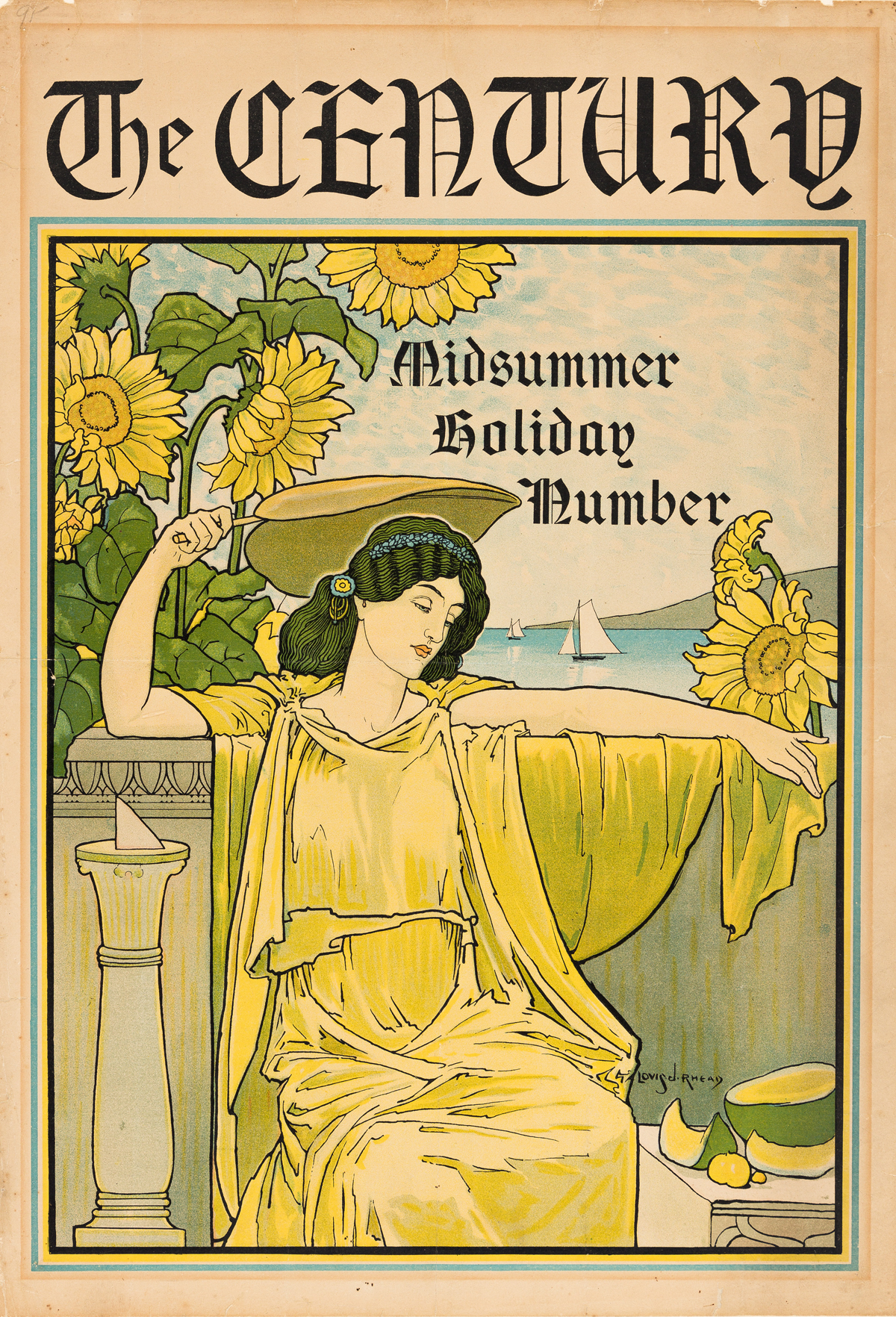 LOUIS J. RHEAD (1858-1926).  THE CENTURY / MIDSUMMER HOLIDAY NUMBER. 1895. 20x14 inches, 50x35 cm.