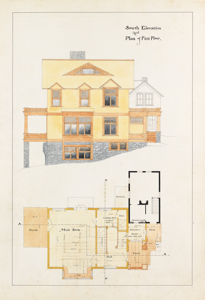 (ARCHITECTURE--CONNECTICUT)-Stilson-William-W-Designs-and-Specifications-for-Shingle-Sydes-Litchfield-County-Connecticut-William