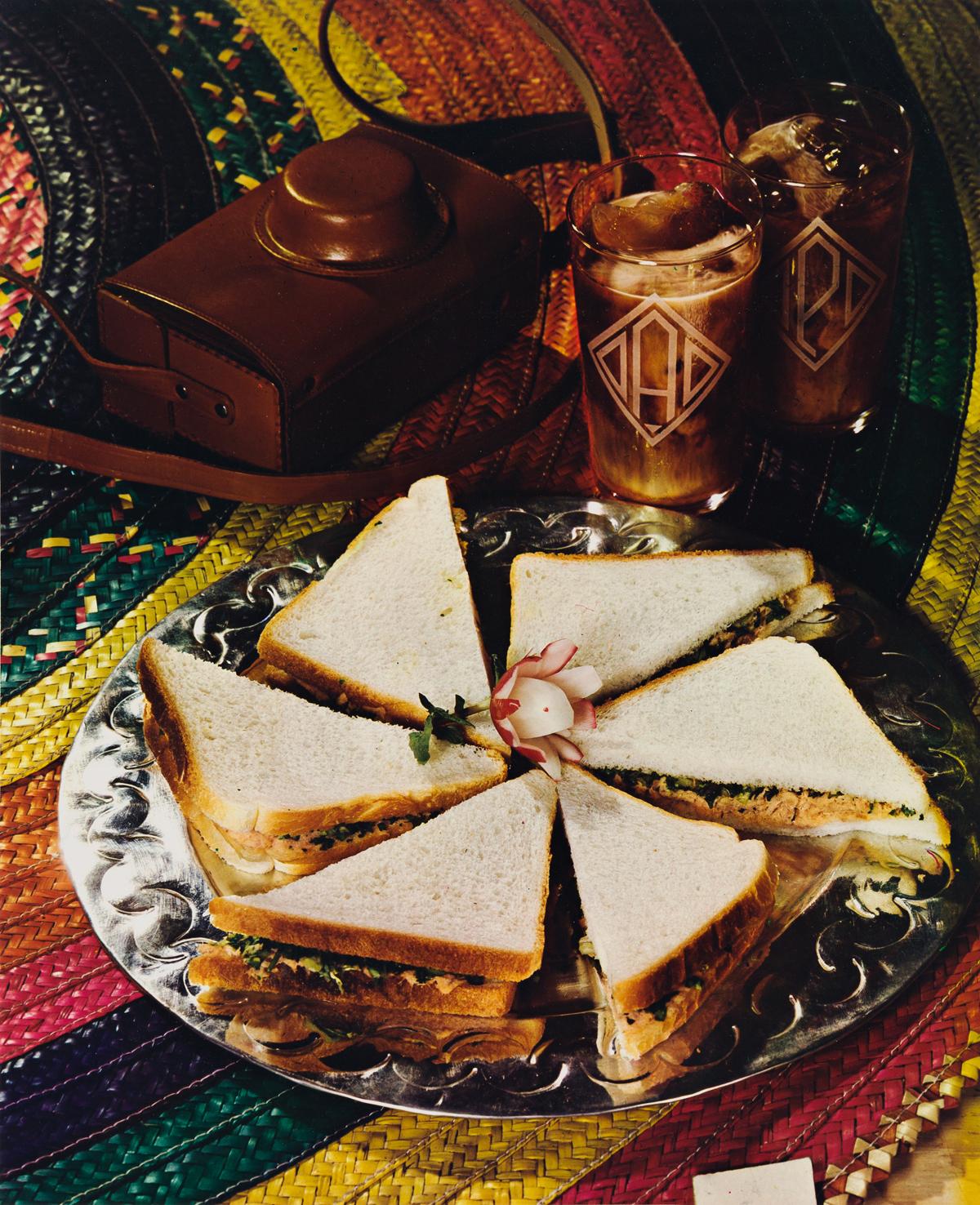 PAUL OUTERBRIDGE JR. (1896-4958) Sandwiches on Tray.