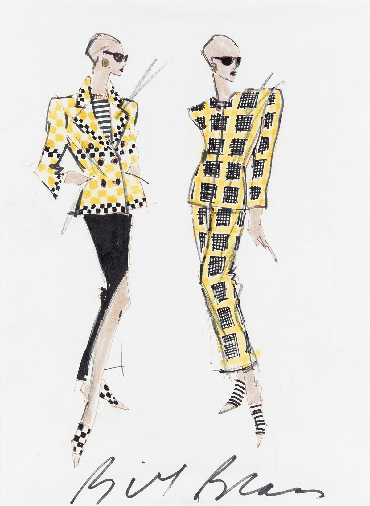 BILL BLASS. Power Suits and Shoulder Pads.